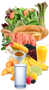 food nutrition collage